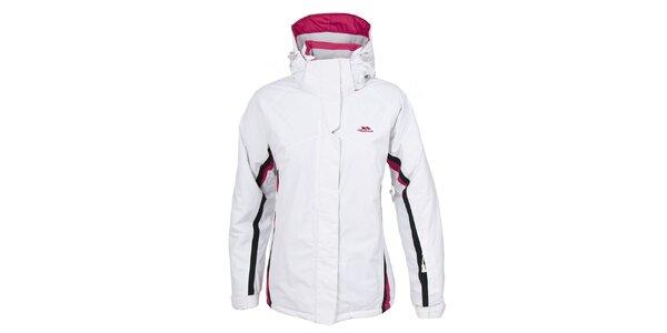 Dámska biela lyžiarska bunda s kapucňou Trespass