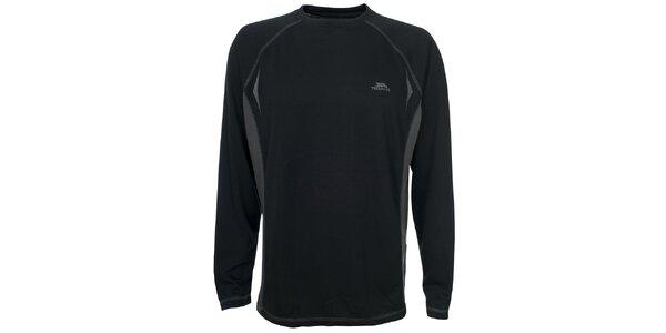 Pánske čierne tričko s dlhým rukávom Trespass