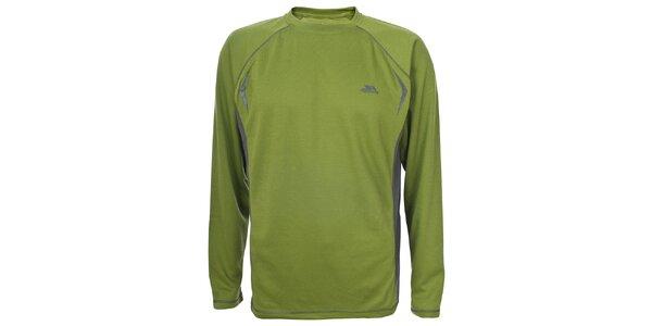 Pánske zelené tričko s dlhým rukávom Trespass
