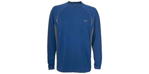 Pánske modré tričko s dlhým rukávom Trespass