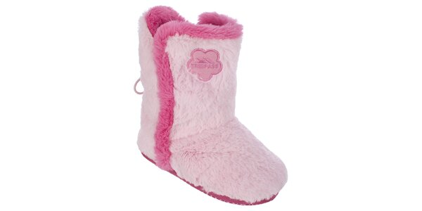 Dámske chlpaté domáce topánky Trespass - ružové
