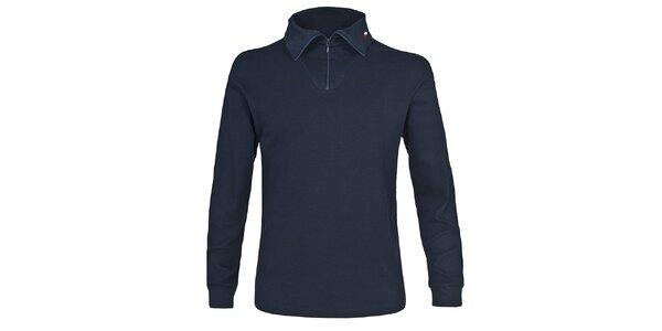 Pánske lyžiarske polo tričko v tmavo modrej farbe Trespass