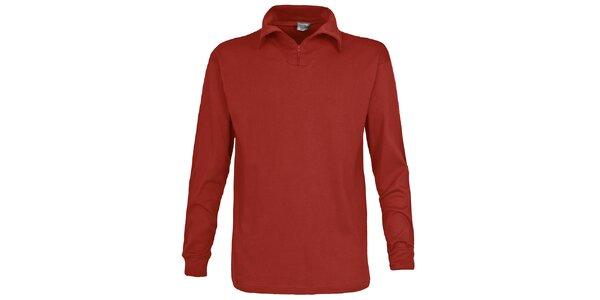 Pánske červenohnedé lyžiarske polo tričko Trespass