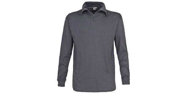 Pánske šedé lyžiarske polo tričko Trespass