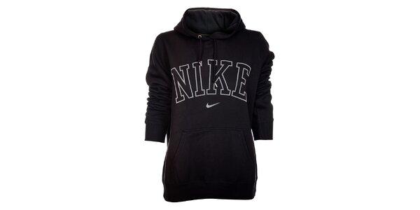 Dámska čierna mikina Nike s kapucňou a bielym logom