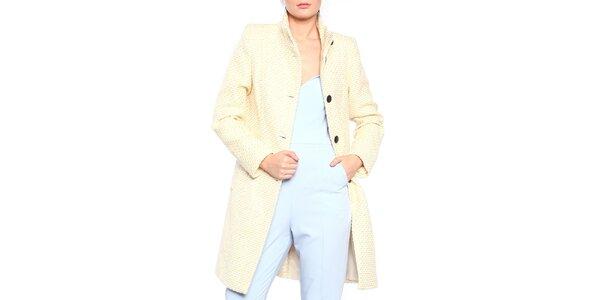 Dámsky žlto-biely vzorovaný kabát Vera Ravenna 1bb3554deb8