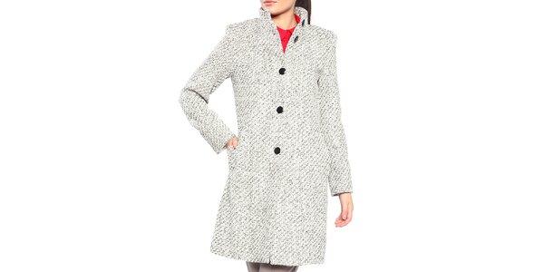 Dámsky čierno-biely kabát s gombíkmi Vera Ravenna