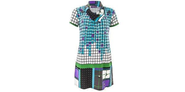 Dámske modro kockované šaty Purple Jam