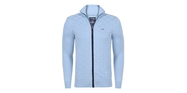 Pánsky modrý sveter na zips Giorgio di Mare