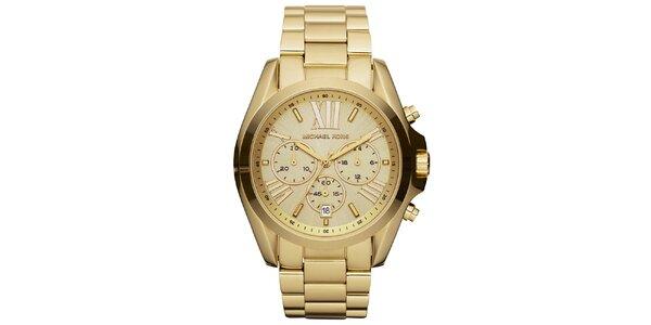 Dámske zlaté hodinky z nerezovej ocele Michael Kors
