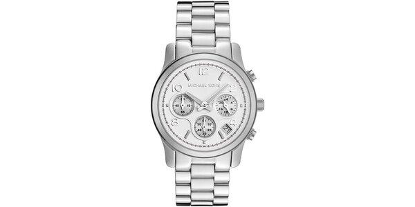 Dámske hodinky v striebornej farbe Michael Kors