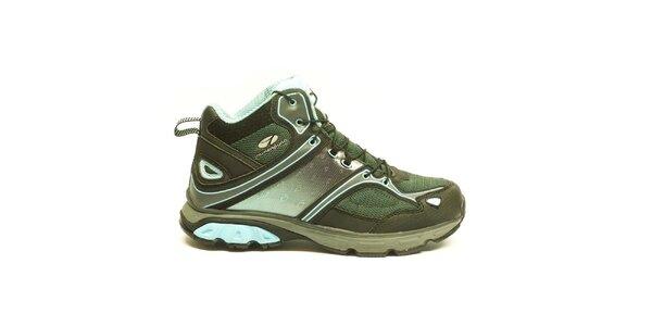 Dámske modro-zelené trekové členkové topánky Numero Uno