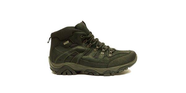 Pánske členkové čierne trekové topánky na zimu Numero Uno