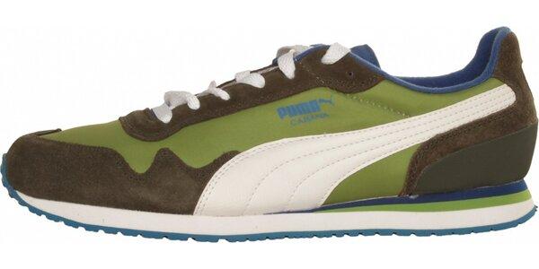 Pánske zeleno-hnedé tenisky Puma