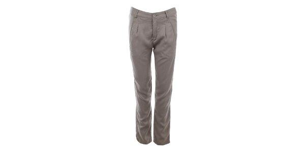 Dámske svetlo šedé nohavice s vreckami Gaudí