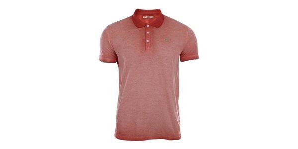 Pánske červené vyšisované polo tričko Gaudí