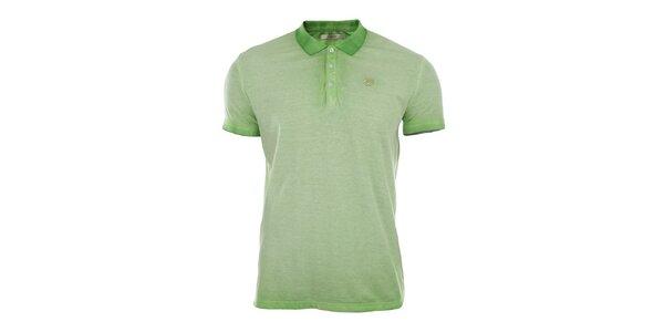 Pánske zelené vyšisované polo tričko Gaudí
