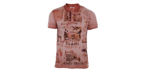 Pánske polo tričko s potlačou Gaudí