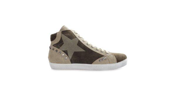 Pánske členkové topánky s cvokmi Gaudí