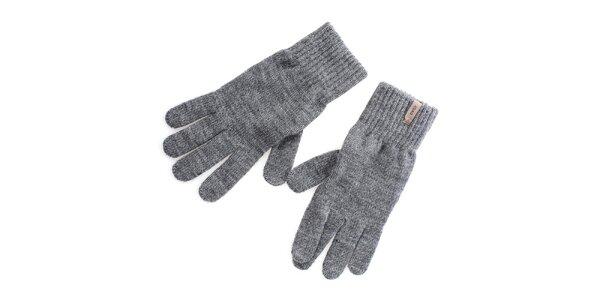 Pánske šedé rukavice Gaudí