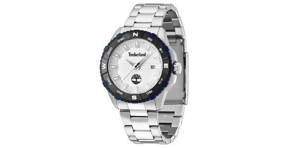 Pánske oceľové hodinky s dátumovkou Timberland