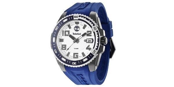Pánske hodinky s modrým remienkom Timberland