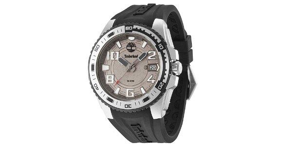 Pánske hodinky s čiernym remienkom Timberland