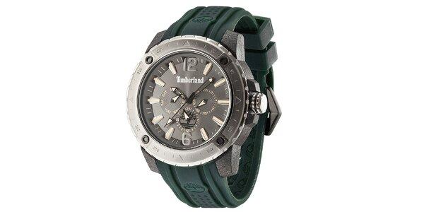 Pánske hodinky so zeleným remienkom Timberland