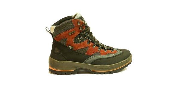 Pánske viacfarebné trekové topánky v členkovej výške Numero Uno