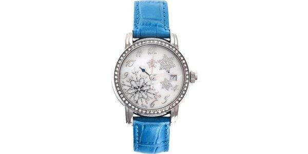 RFS dámske hodinky Russian Winter modré s perleťovým ciferníkom