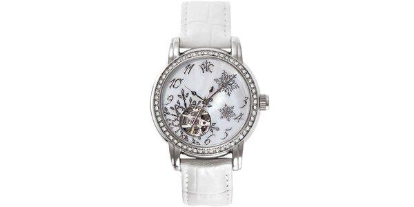 RFS dámske hodinky Russian Winter biele s perleťovým ciferníkom
