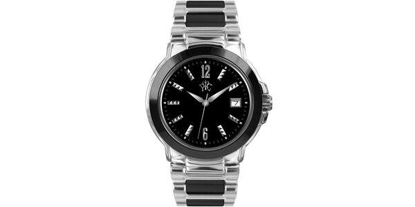 RFS dámske hodinky Yin Yang s čiernym ciferníkom