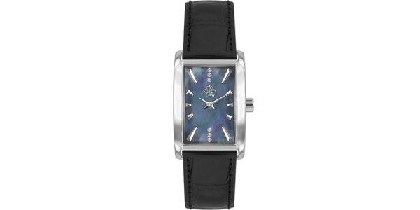 RFS dámske hodinky Prima s čiernym remienkom a ciferníkom striebornej farby