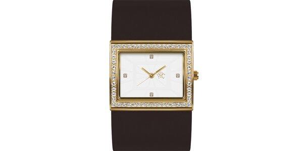 RFS dámske hodinky Labyrinth s hnedým remienkom