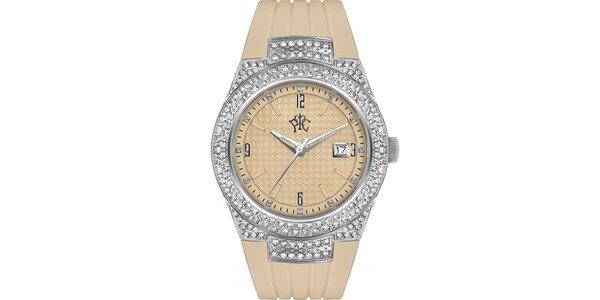 RFS dámske hodinky Velvet béžové