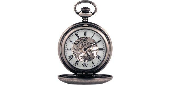 Pánske vreckové hodinky Renaissance oceľovej farby