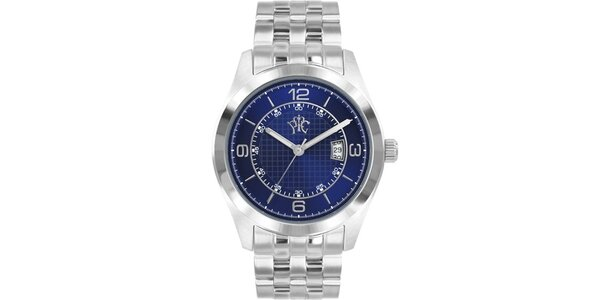 Pánske hodinky v elegantne športovom štýle Race, s modrým ciferníkom