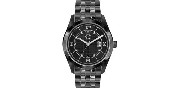 Pánske hodinky v elegantne športovom štýle Race čierne