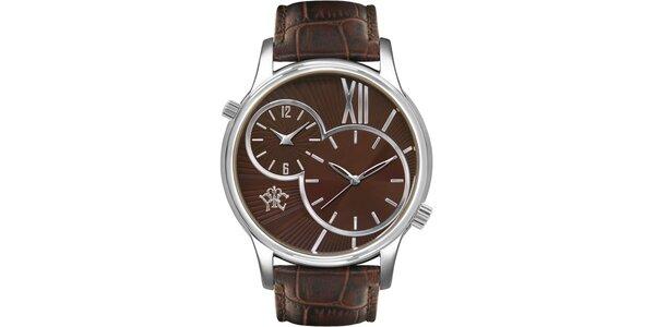 Pánske cestovateľské hodinky Odyssey hnedé