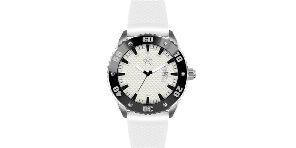 Pánske hodinky v športovom štýle, Rally biele
