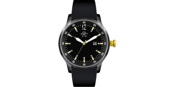 Pánske hodinky Adrenalin čierne pre extrémny životný štýl