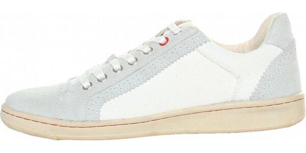 Pánske bielo-šedé tenisky Avirex