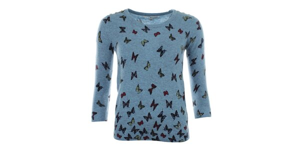 Dámsky svetrík s motýlikmi Uttam Boutique