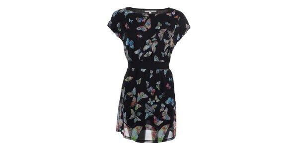 Dámske čierne šaty s motýlikmi Uttam Boutique