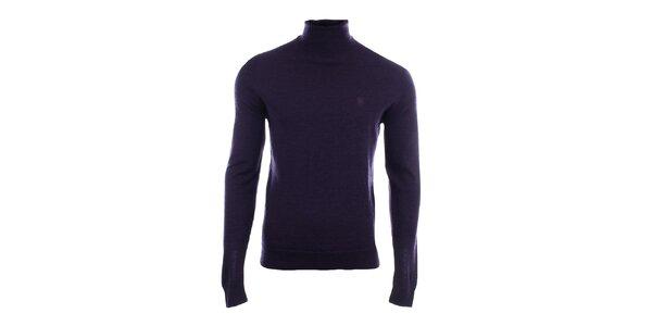 Pánsky tmavo modrý sveter s rolákom Pietro Filipi