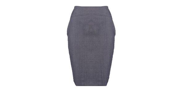 Dámska šedá púzdrová sukňa Pietro Filipi