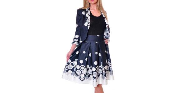 Dámska tmavo modrá sukňa Daka