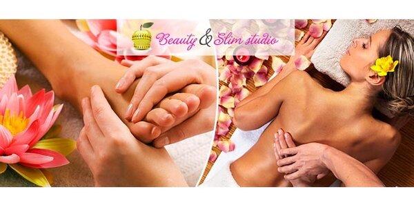 Reflexná masáž chodidiel, klasická masáž chrbta a rúk