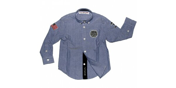 Detská svetlo modrá košeľa U.S. Polo