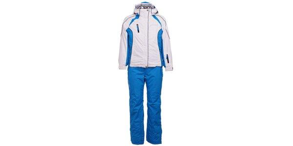 Detská modro-biela lyžiarska súprava West Scout s membránou